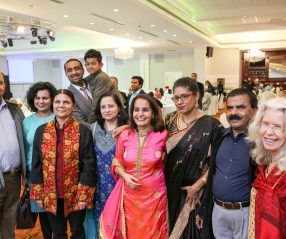 Rachna Singh with constituents and friends at an event